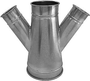 "Nordfab Ducting 3226-1205-106040 QF 双分支 30 度 12-5-6-4,12"" 直径,镀锌钢"
