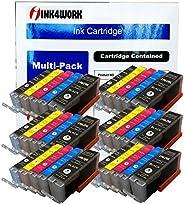 INK4WORK 30 包兼容替換裝 PGI-250XL 和 CLI-251XL 墨盒 Pixma MX722 MX922 MG5620 MG5420 MG5422 MG5520 MG5522 MG6620 iX6820