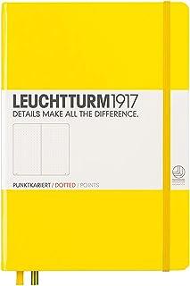 LEUCHTTURM1917 灯塔中开点格笔记本黄色硬封皮(A5)