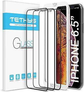 Tethys Iphone XS Max (6.5英寸)全包耐用钢化膜,3件装