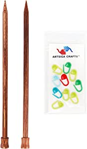 Knitter's Pride 针织针姜黄色单尖 35.56 厘米捆绑包带 10 个 Artsiga Crafts 针迹 Size Us 2.5 (3mm) Size US 2.5 (3mm) NM344843
