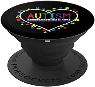Autism Awareness 自闭*可爱 - PopSockets 手机和平板电脑握架260027  黑色