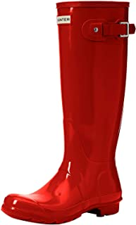 HUNTER Damen Original Tall Gloss Stiefel, Rose