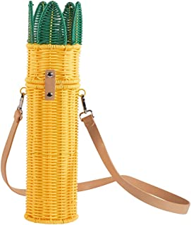 CIROA 葡萄酒袋 - 菠萝形状柳条袋用于携带瓶