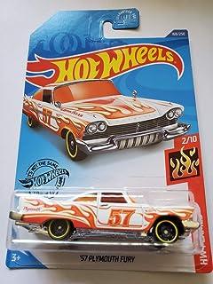 Hot Wheels 2020 Hw Flames '57 Plymouth Fury,白色 168/250