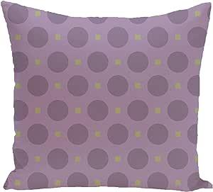 Ebydesign Dot Dash Geometric Print Pillow, Larkspur