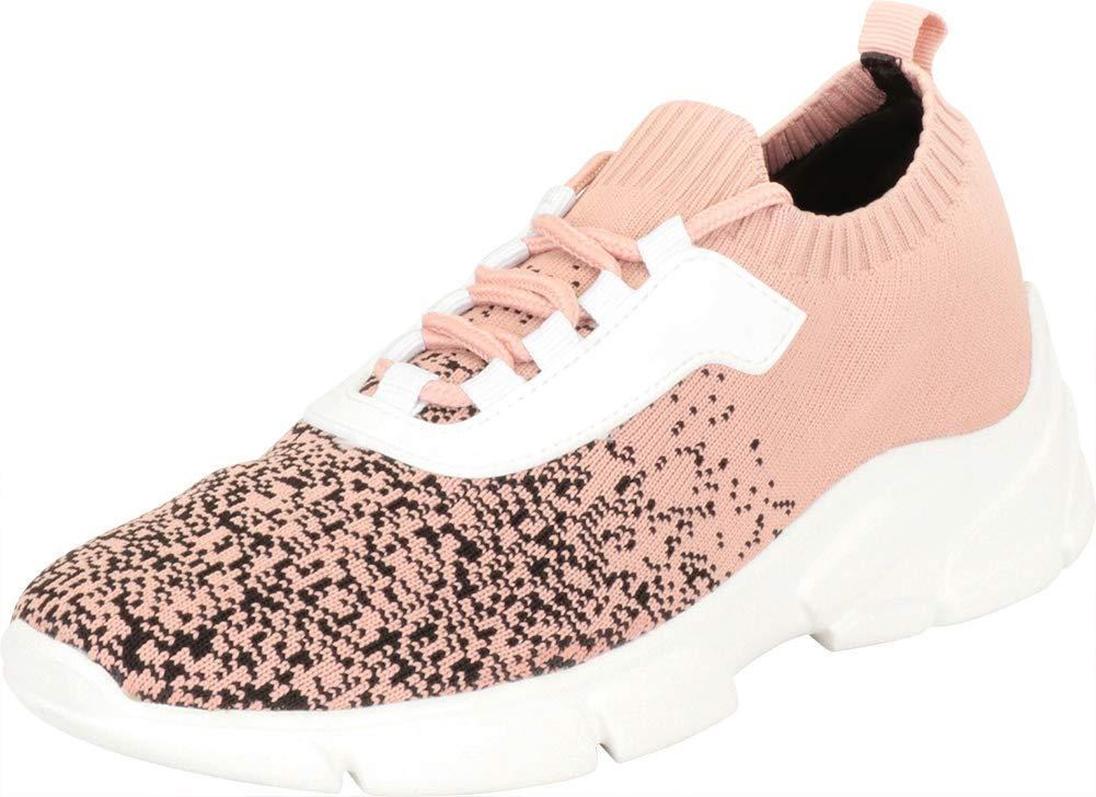 Cambridge Select 女式轻质针织 Ombré 系带休闲时尚运动鞋