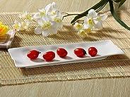 长盘子 方形盘 盘子 碟子 鱼盘 前菜盘 细长盘子 寿司盘 白瓷 咖啡店 业务用 12号デザイン 110221