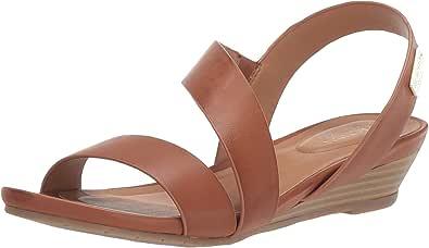Kenneth Cole REACTION Women's Asymmetrical Strap Low Wedge Sandal