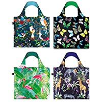 LOQI Nature2 系列袋可重复使用的杂货袋,多色