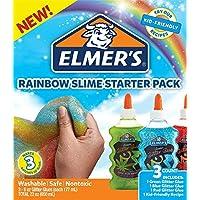 Elmer's 彩虹粘胶基础套装含绿色、蓝色、红色闪粉胶 每只各6盎司(177毫升)3支装