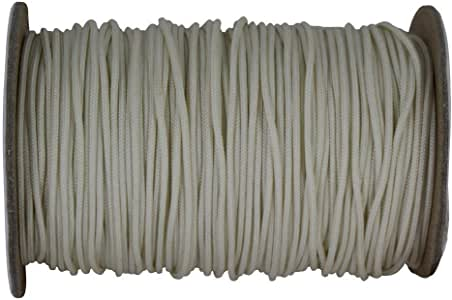 SGT KNOTS Polyester Lift Cord / Mini Blind / Roman Shade Made in USA - Several Colors & Sizes (1.4 mm x 100 yards - Almond)