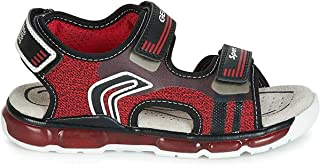 Geox J 凉鞋 Android 男童 a 露趾凉鞋 Red (Red/Black C0020) 4 UK Child