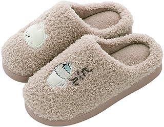 Caissip 儿童*泡沫拖鞋羊毛毛皮温暖秋冬靴防滑男孩女孩幼儿家居鞋带腰带