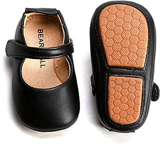 Bear Mall 女婴鞋软底幼儿芭蕾平底鞋婴儿步行鞋