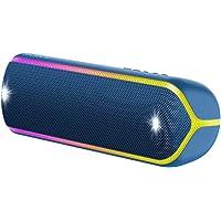 Sony 索尼 SRS-XB32 蓝牙扬声器(便携式,无线,NFC,彩色灯条,额外低音,频闪灯,防水)SRSXB32L.CE7