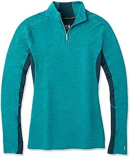 Smartwool 女式美利奴运动衫 250 长袖 1/4 拉链 T 恤,孔雀杂色,中号