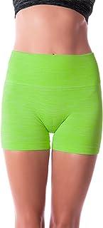 Homma 女士无缝压缩混色瑜伽短裤跑步短裤修身款.