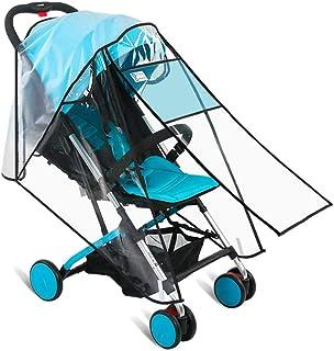 婴儿推车防雨罩,婴儿旅行防雨罩,带*屏幕,防风防水,防尘、防雪、防唾液