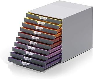 Durable 761027 A4抽屉盒(Varicolor 10格,带标签)