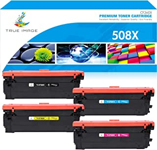 True Image 4 Packs High Yield HP Color Laserjet Enterprise M553DN Toner Compatible Toner Cartridge Replacement for HP 508X 508A CF360X CF360 Toner HP Color Laserjet M553X M553N M553 M577 M552DN Toner