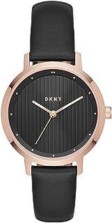 DKNY 女式模拟石英手表皮革表带 NY2641