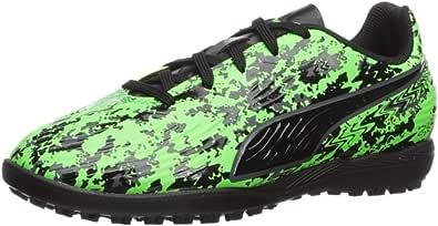 PUMA 彪马儿童 One 19.4 Tt Jr 运动鞋 Green Gecko-puma Black-charcoal Gray 1 M US 儿童