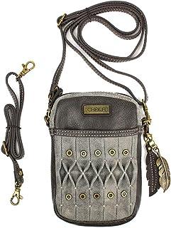 Chala Origami 手机斜挎包钱包 - 手提包带可调节带/钥匙扣 橄榄色 均码