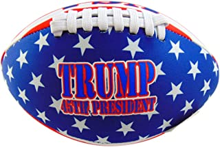 Westmon Works Trump 橄榄球氯丁橡胶露台美国国旗 45 届总统球 20.32 厘米长