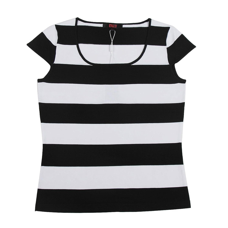 微�yl#�.��/�kNy>Y��&_伊芙心悦eve ny 2011新款春装短袖ol百搭梅兰条纹针织