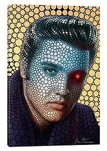 """iCanvasART Elvis Presley 帆布画 Ben Heine 26"""" x 18"""" BHE103-1PC3-26x18"""