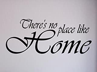 Vinylsay 0860.There's-M.Black -33x13.5 There's No Place Like Home 墙贴,83.82cm x 34.29cm,哑光黑色
