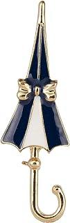 Knighthood 蓝色和白色雨伞翻领别针 男女适用 LP-42