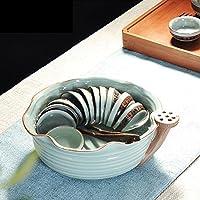 AlfunBel艾芳贝儿茶洗水洗哥窑陶瓷大号笔洗创意个性杯洗茶具配件茶道工具(可做花器)-环线(只包含茶洗一个,不含其他配件)C-8-9