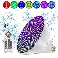 sumaitong 120V 45W AC RGB 变色器,适用于 Pentair 和 Hayward 灯具的替换灯泡。 开关控制或遥控器,E26/E27