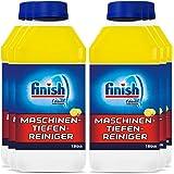 Finish 洗碗机深度清洁剂,抵抗钙盐和油脂的液体机器清洁剂,洗碗机护理,柠檬味,6瓶(6 x 250毫升)