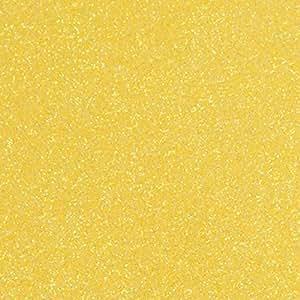 1 张 30.48cm x 50.80cm Siser 闪光热转印乙烯基 (HTV) 柠檬糖 1220GlitterHTVLemonSugar