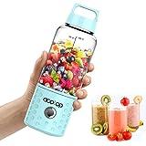 ACOTOP 便携式搅拌机,Juice Blender USB 充电榨汁机杯,16盎司(约453.6毫升)水果混合机,容量为 4000毫安,可充电电池,用于奶昔和光滑,小型搅拌机