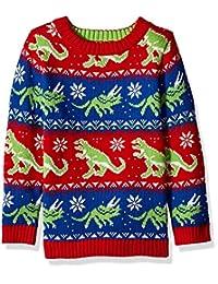Blizzard Bay Boys Ugly Christmas Sweater Dinosaur