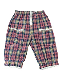 【H27年秋冬款】(日本制造)Pample Mousse(Pample Mousse) 格子花布风格裤 NO.DP-53304 粉色 80