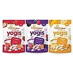 Happy Baby Yogis干冻酸奶和水果零食,3种风味各种包装,1盎司/28克