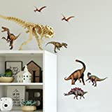 RoomMates RMK1043SCS Dinosaurs Peel & Stick Wall Decals, 16 Count
