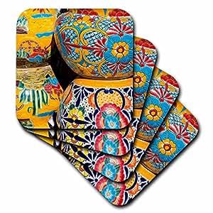 Danita Delimont - 陶器 - 亚利桑那,图森,Tubac。 传统手绘墨西哥瓷器皿。 - 杯垫 set-of-4-Ceramic cst_210077_3