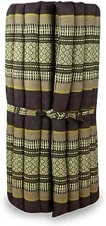 LivAsia 泰国马垫,79x30x2 英寸(长 x 宽 x 高),滚筒床垫,100% Kapok 填充,适合瑜伽、按摩、健身和放松