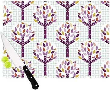 "Kess InHouse Pellerina Design ""Orchid Spring Tree"" Cutting Board, 11.5 by 8.25-Inch, Purple"