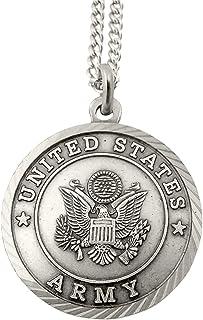 男式镍银美国军事勋章带基督背板,1 英寸