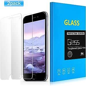 [ 2包 ] iphone 6plus 屏幕保护膜 basse 高级硬度高清防刮钢化玻璃屏幕保护膜适用于 iPhone 6Plus  iPhone 6S PLUS [ 7.62cm ] 透明