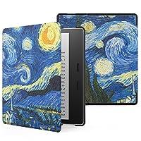 MoKo 亚马逊 Kindle Oasis 保护套 适配2017全新Kindle Oasis 7英寸防水电子书阅读器 KO休眠皮套 亚马逊Kindle Oasis 2017新款轻薄翻盖保护壳 梵高星空