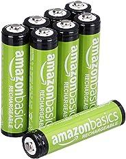 AmazonBasics 预充电可充电电池800 mAh  / 低至: 750 mAh [8件装] - 保护套可能会有所不同
