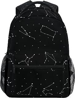 LORVIES 星座十二生肖标志休闲背包书包旅行背包